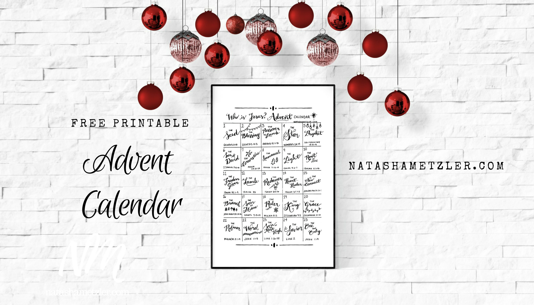 Who Is Jesus? Advent Calendar (Free Printable)