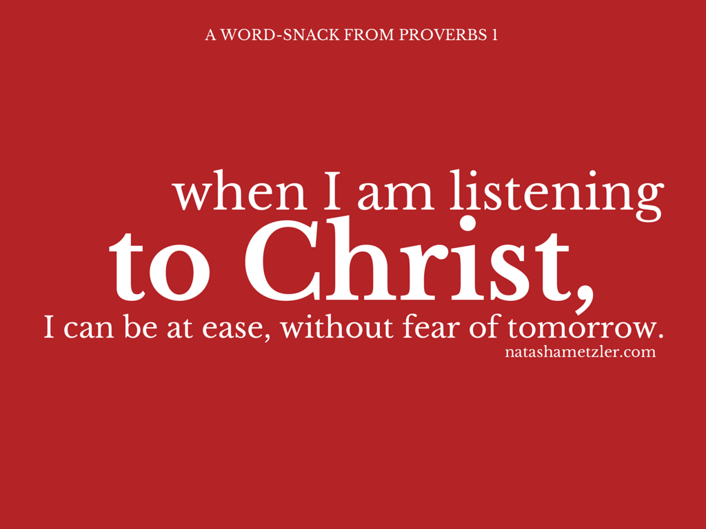 Word-Snack: Proverbs 1