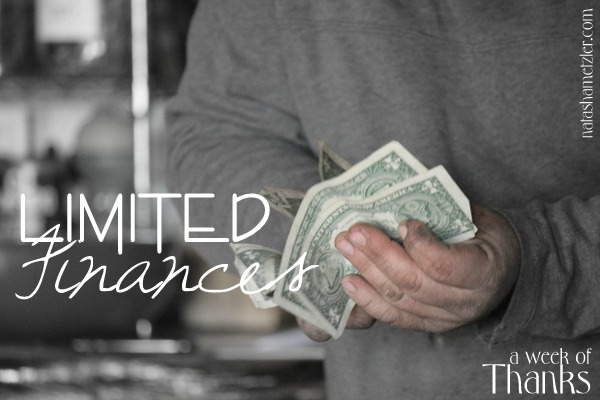 limited finances {week of thanks}