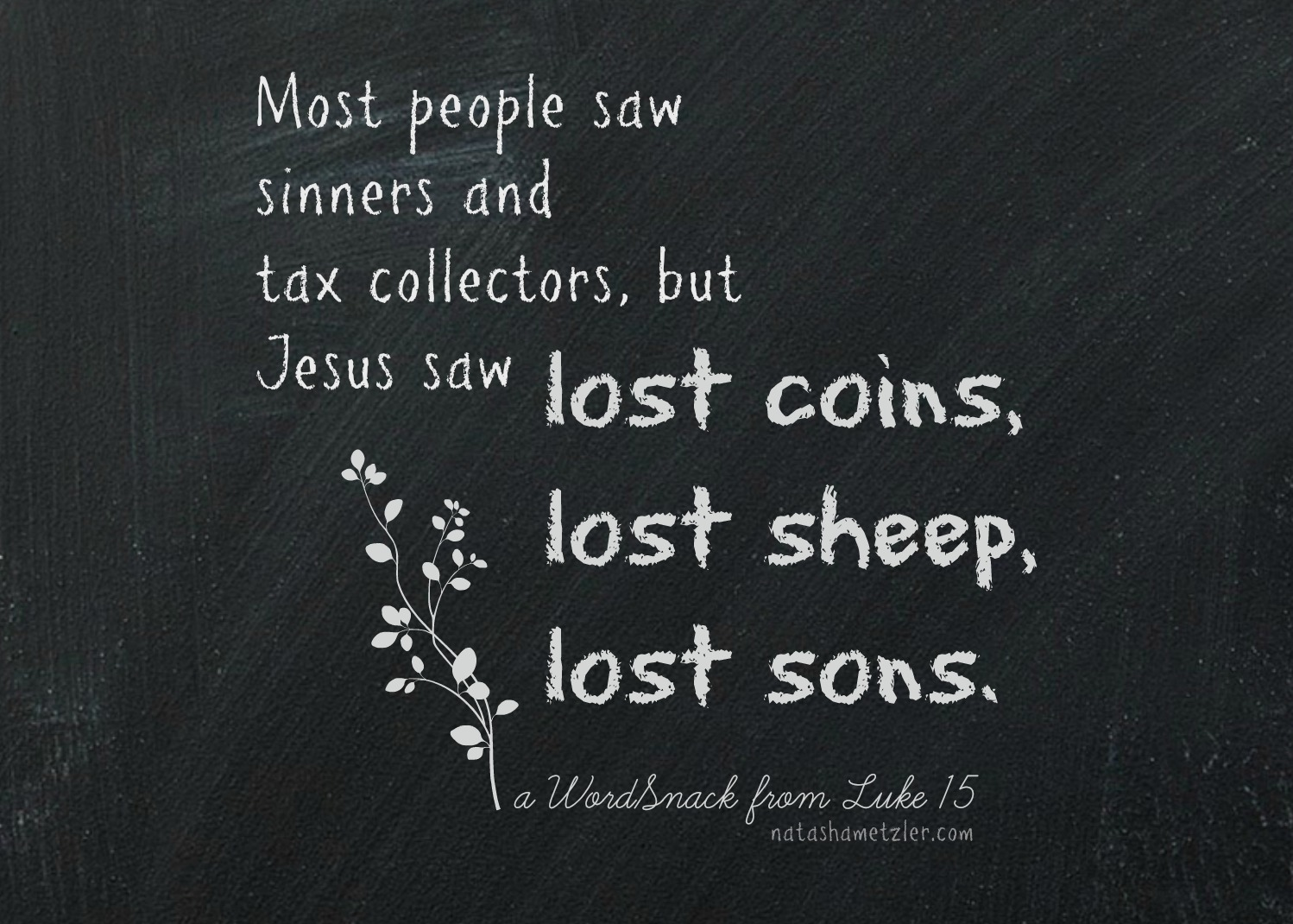 Lost Sheep (A WordSnack from Luke 15)