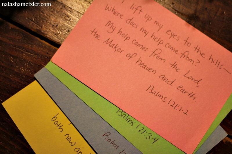 memorize a verse a week @natashametzler